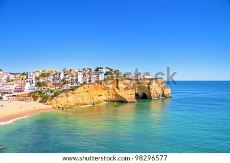 The village Carvoeiro in the Algarve Portugal
