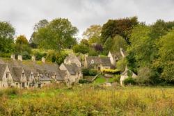 the village of Bibury, Cotswolds, Arlington Row England