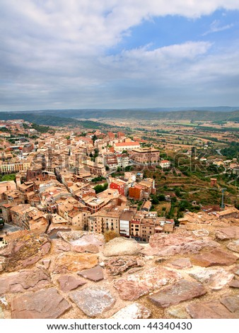 The village of Cardona from its castle