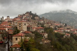 The village of Dimitsana, a mountainous town in Arcadia region, Peloponnese, Greece.