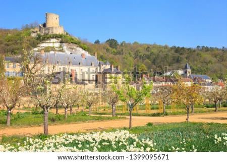 The village of la Roche guyon, Val-d'Oise department, Île-de-France, France #1399095671