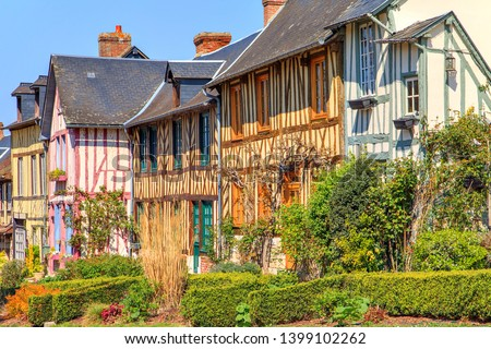 The village of Le bec hellouin Normandy, France Photo stock ©