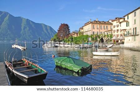the Village of Lenno at Lake Como,italian Lake District,Italy