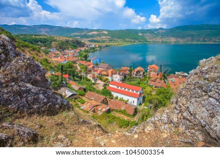 The village of Lin, near the Ohrid lake, albania
