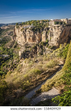 The village of Ronda in Andalusia, Spain.  #158409929