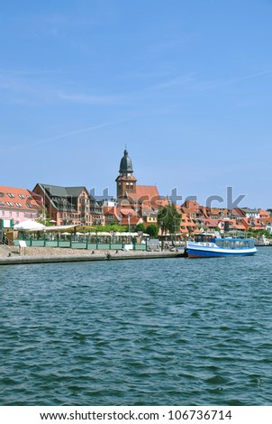the Village of Waren an der Mueritz,Mecklenburg Lake District,Germany
