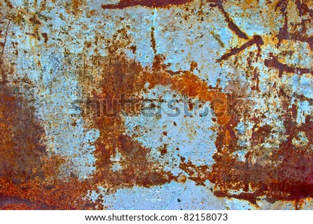 The vintag colored grunge iron textured background