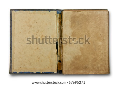 The Vintage book isolated on white background