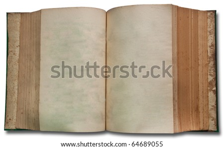 The Vintage book on white background