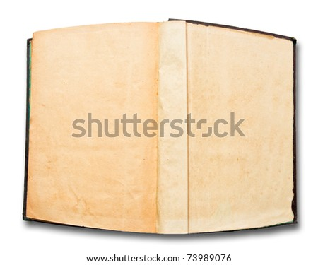 The Vintage open book isolated on white background