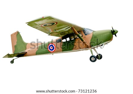 The Vintage plane of world war isolated on white background