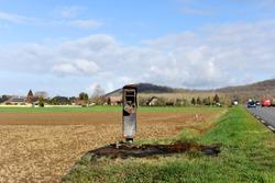 The violent destruction of speed radar, South of France, Europe