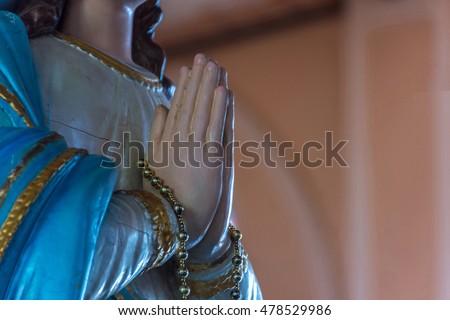 The Virgin Mary statue at The Cathedral of the Immaculate Conception is a Roman Catholic Diocese