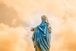 The Virgin Mary statue at The Cathedral of the Immaculate Conception is a Roman Catholic Diocese of Chanthaburi.