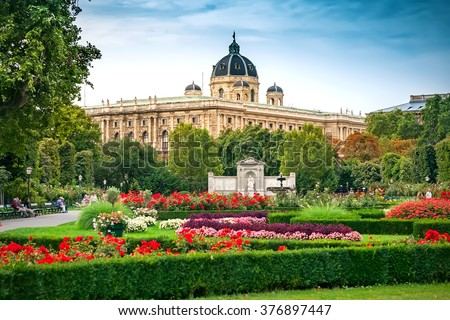 The Volksgarten (People's Garden) in Vienna, Austria