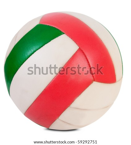 The volleyball ball isolated over white with clipping path