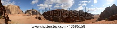 the Wadi Rum Desert in Jordan.