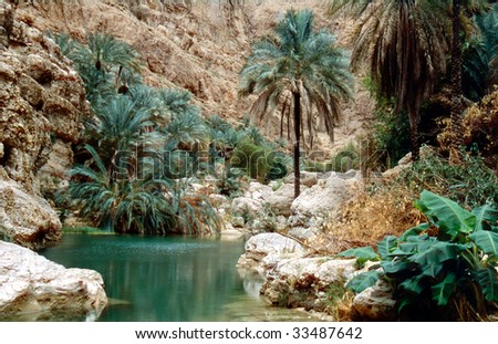 The Wadi Shab, one of the most famous as well as beautifull wadi (valleys) in the arab sultanate Oman