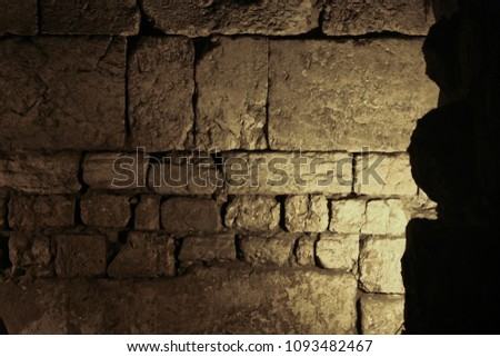 the wailing wall from the...