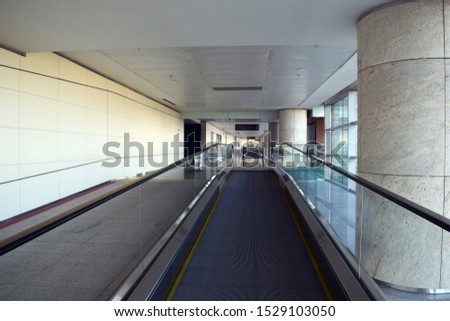 The waiting area of the airport. The design of the waiting area of the airport.