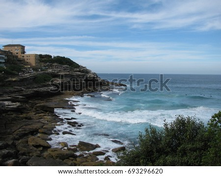 The walking path along the Sydney coast.