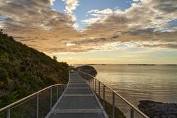 The walkway on the coastline of