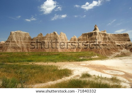 The Wall from the northeast entrance, Badlands national park, NP