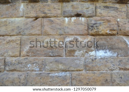The wall of stone brick sand color #1297050079