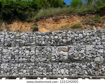 Free photos Wire Gabion Rock Fence  Metal Cage filled with rocks