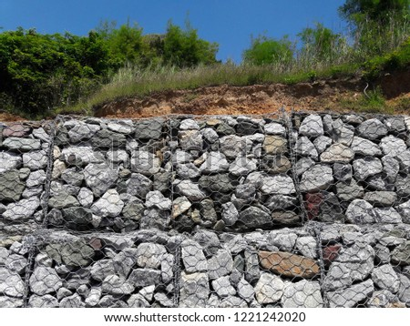 The wall protects from the erosion of rocks on the slopes. (ROCK SLOPE STABILIZATION) #1221242020