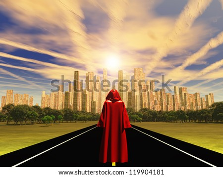 The Wanderer Approaches the City