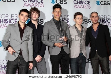 The Wanted at the 2013 People's Choice Awards Press Room, Nokia Theatre, Los Angeles, CA 01-09-13