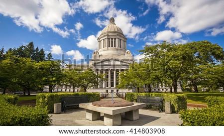 Photo of  The Washington state Capitol building in Olympia, Washington
