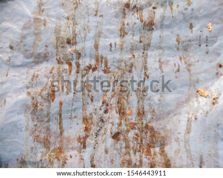 The Waste organic matter on the Plastic sheet. The Organic farming background.  #1546443911