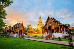 The Wat Phra Sing Temple located in Chiang Mai Province,Thailand.