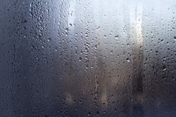 the water droplets on glass