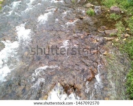 The water flow in the stream #1467092570