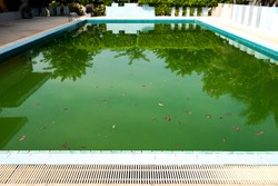 The water in the pool is rotten.