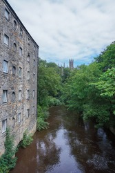 The Water of Leith running through Dean Village in Edinburgh