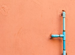 The water pipes on the wall