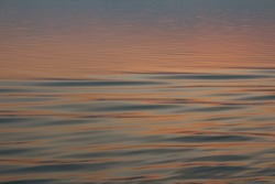The water surface at sunset