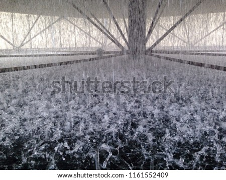 The water that flows through its fins of cooling tower. Cooling tower for cooling out of water in the system.