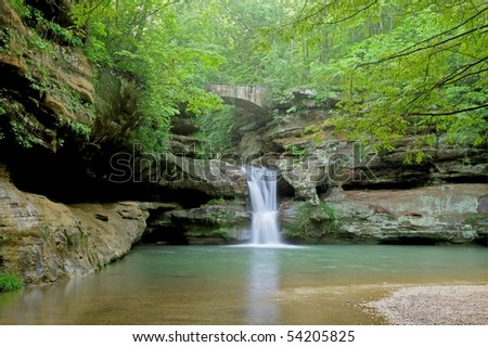 The Waterfall in Hocking Hills
