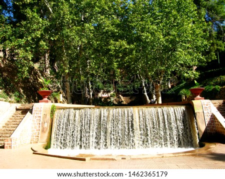 The waterfall in the oasis in Sahara desert, Morocco #1462365179