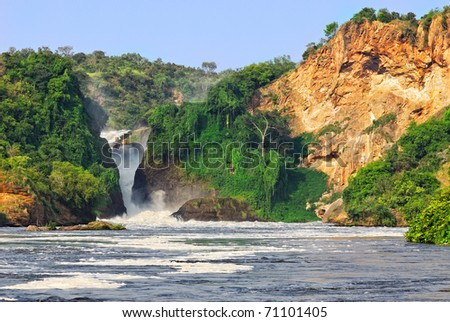 The waterfall on the Victoria Nile, Murchison Falls , northern Uganda