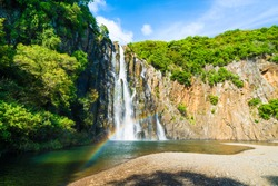 The waterfalls of  Niagara Cascade situated in the north of  La Reunion Island