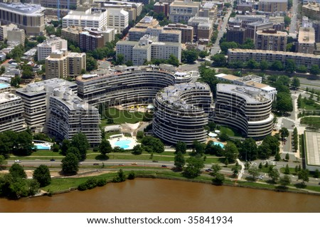The Watergate complex is an office-apartment-hotel complex built in 1967 in northwest Washington D.C., on the Potomac River, best known for the Watergate Scandal of President Nixon.