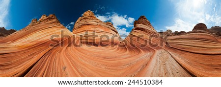 The Wave stone structure at Coyote Buttes in Arizona, USA