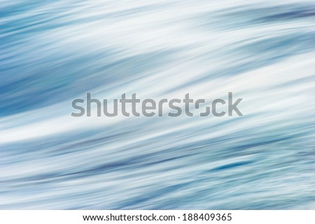 The waves of the river flow