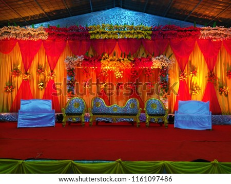 Free Photos Traditional Wedding Stage With Yellow Decoration